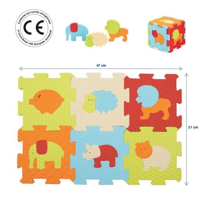 ludi dalles mousse animaux petit mod le multicolore. Black Bedroom Furniture Sets. Home Design Ideas