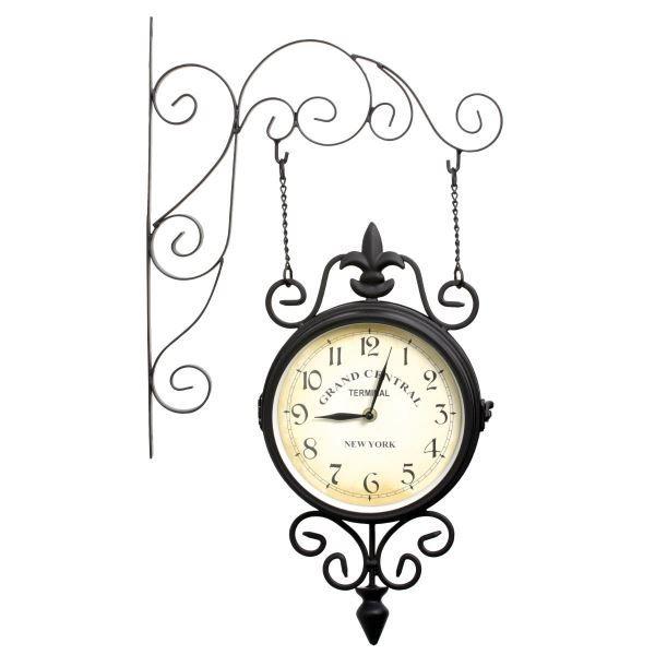 horloge en fer achat vente horloge horloge en fer cdiscount. Black Bedroom Furniture Sets. Home Design Ideas