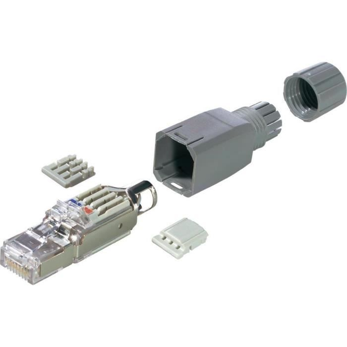 Connecteur montable rj45 cat 5e fm45 prix pas cher - Connecteur rj45 cat 6 ...