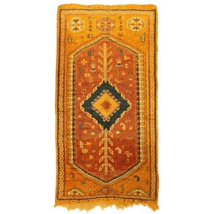 tapis couloir taznakht 8364 laine fait main 290x150cm jaune achat vente tapis cdiscount. Black Bedroom Furniture Sets. Home Design Ideas