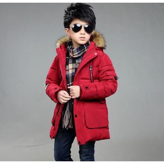 enfant fille gar on veste manteau parka doudoun rouge achat vente tunique cdiscount. Black Bedroom Furniture Sets. Home Design Ideas