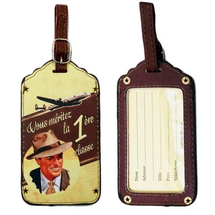 Porte tiquette premiere classe pour bagage valise sac for 1 porte etiquette de voyage