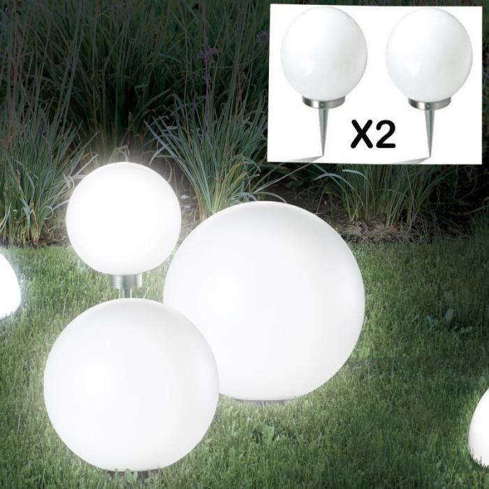 Boule solaire exterieur 30cm achat vente boule solaire for Lampe boule exterieur