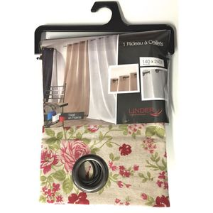 double rideaux a fleurs achat vente double rideaux a fleurs pas cher cdiscount. Black Bedroom Furniture Sets. Home Design Ideas