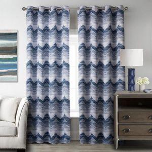 rideaux bleu fonce achat vente rideaux bleu fonce pas cher cdiscount. Black Bedroom Furniture Sets. Home Design Ideas