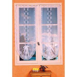 rideau en dentelle achat vente rideau en dentelle pas cher cdiscount. Black Bedroom Furniture Sets. Home Design Ideas
