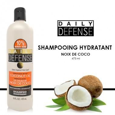 daily defense shampooing hydratant noix de coco 473ml achat vente shampoing daily defense. Black Bedroom Furniture Sets. Home Design Ideas