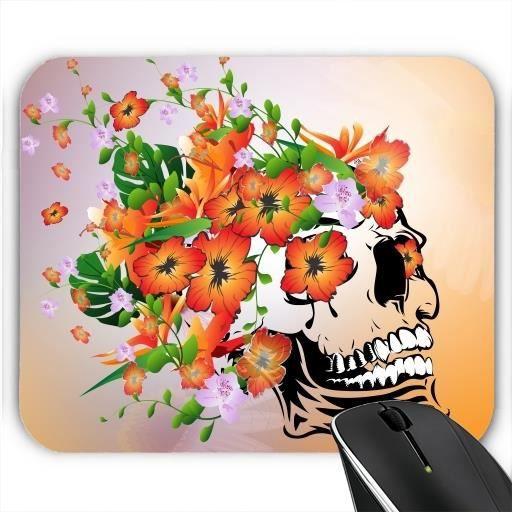 tapis de souris cr ne avec des fleurs prix pas cher. Black Bedroom Furniture Sets. Home Design Ideas