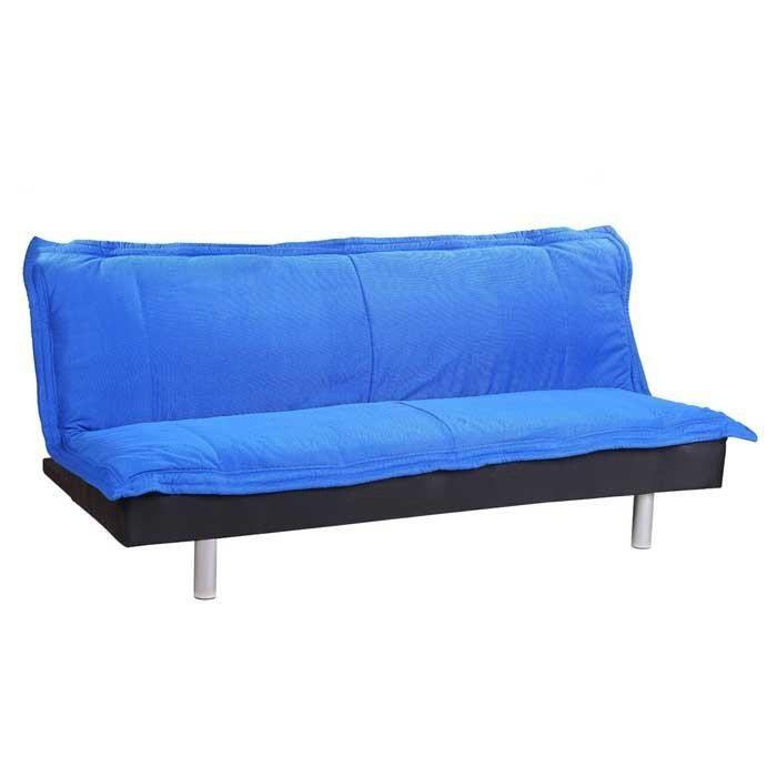 banquette avec m canisme clic clac couleur bleu achat vente clic clac cdiscount. Black Bedroom Furniture Sets. Home Design Ideas