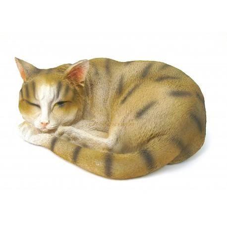chat endormi en r sine achat vente statue statuette chat endormi en r sine cdiscount. Black Bedroom Furniture Sets. Home Design Ideas