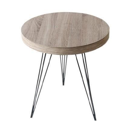 bout de canap m tal bois achat vente bout de canap. Black Bedroom Furniture Sets. Home Design Ideas