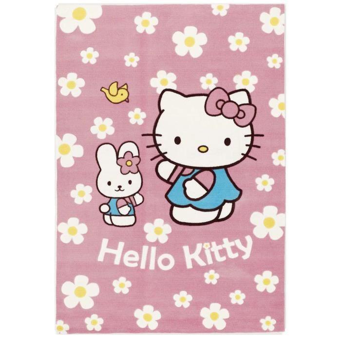 Hello Kitty Tapis Enfants Paseo Fuchsia 115x170 Cm Achat Vente Tapis Cdiscount