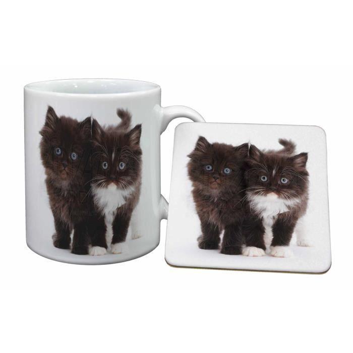 les chatons noir et blanc tasse et russes animaux cadeau. Black Bedroom Furniture Sets. Home Design Ideas
