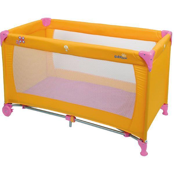 babysun lit parapluie 60x120cm orange et rose achat vente lit pliant lit parapluie. Black Bedroom Furniture Sets. Home Design Ideas