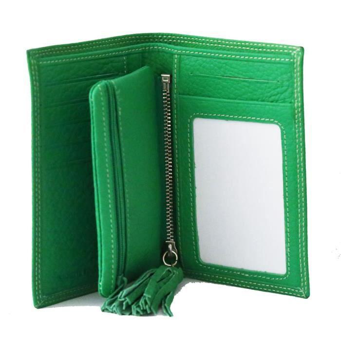bagages petite maroquinerie fancil portefeuille  en porte monnaie cuir coul f fan