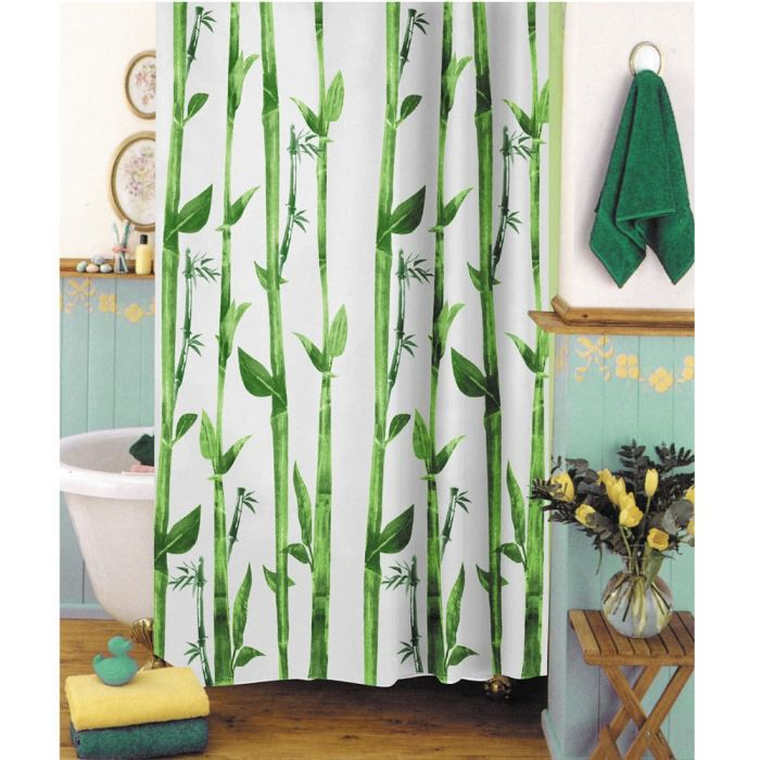 RIDEAU DE DOUCHE FRANDIS Rideau de douche textile Bambou