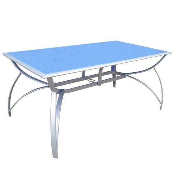 Table florence bleu achat vente table de jardin table for Table jardin bleu