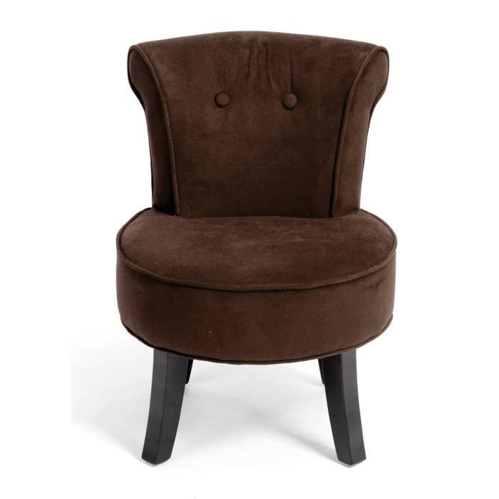 Fauteuil crapaud valeria chocolat achat vente fauteuil marron soldes d - Fauteuil crapaud marron ...