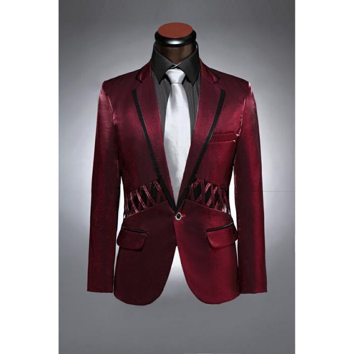 hommes vin rouge prom tuxedo costume de mariage rouge achat vente costume tailleur. Black Bedroom Furniture Sets. Home Design Ideas