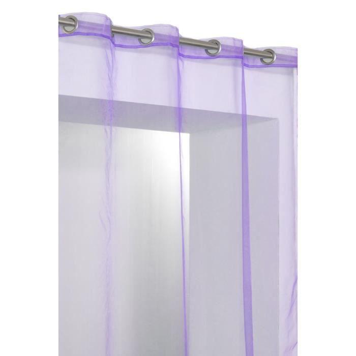 rideaux voilage violet achat vente rideaux voilage violet pas cher cdiscount. Black Bedroom Furniture Sets. Home Design Ideas