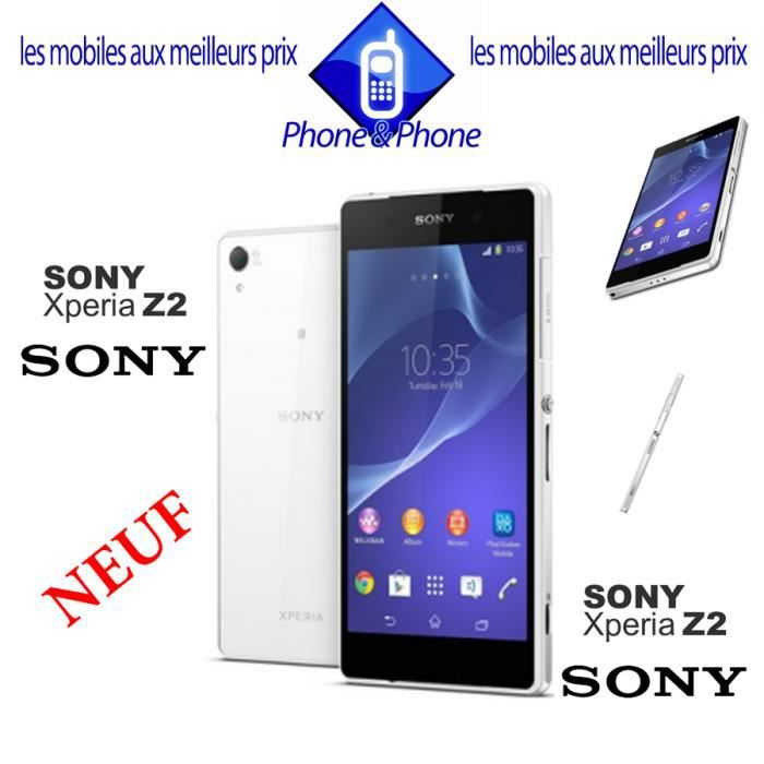 sony xperia z2 blanc neuf 4g achat smartphone pas cher. Black Bedroom Furniture Sets. Home Design Ideas