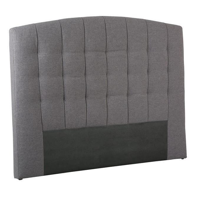 t te de lit odeon gris 140 achat vente t te de lit. Black Bedroom Furniture Sets. Home Design Ideas