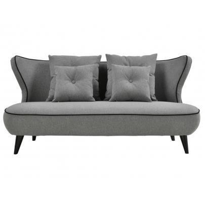 canap 3 places nolan en tissu gris souris achat. Black Bedroom Furniture Sets. Home Design Ideas