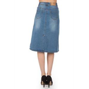 jupe longue en jean achat vente jupe longue en jean pas cher cdiscount. Black Bedroom Furniture Sets. Home Design Ideas