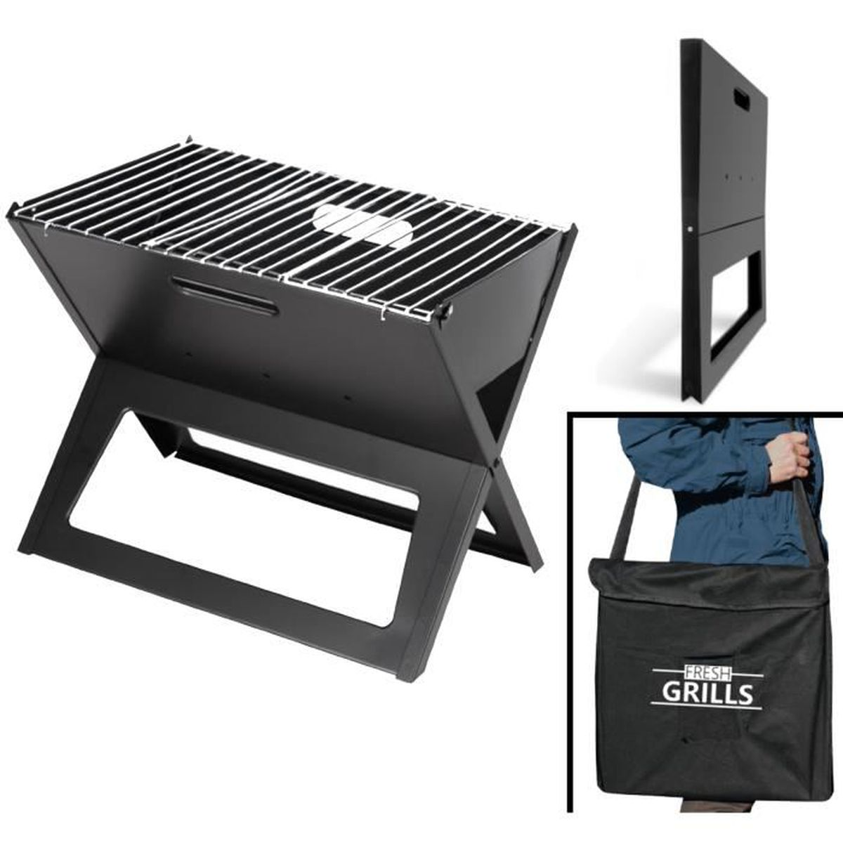grille barbecue pliable achat vente grille barbecue. Black Bedroom Furniture Sets. Home Design Ideas