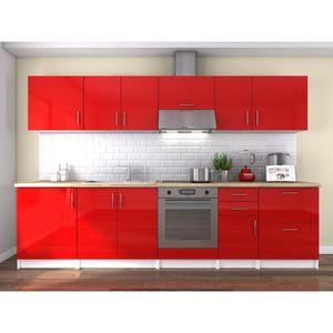 cuisine equipee rouge achat vente cuisine equipee rouge pas cher les soldes sur cdiscount. Black Bedroom Furniture Sets. Home Design Ideas