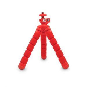 XSORIES MINI BENDY - Trépied articulé pour GoPro, appareil photo ou caméra, hauteur 15 cm, charge maximale 450 grammes - Rouge