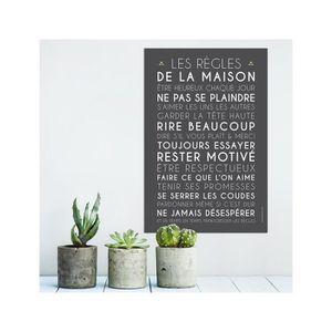tableau les regles de la maison achat vente tableau. Black Bedroom Furniture Sets. Home Design Ideas