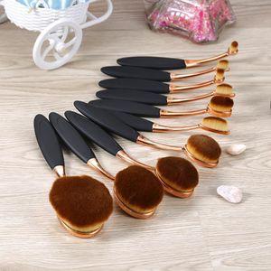 PINCEAUX DE MAQUILLAGE Lot 10 pcs Pinceaux de Maquillage Forme de Brosse