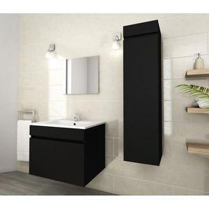 SALLE DE BAIN COMPLETE LUNA Ensemble de salle de bain simple vasque 60 cm