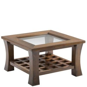 table basse table basse vitre 60x60cm maori - Table Basse Asie