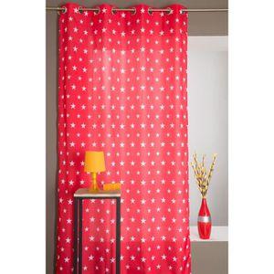 double rideau a motif achat vente double rideau a motif pas cher soldes cdiscount. Black Bedroom Furniture Sets. Home Design Ideas