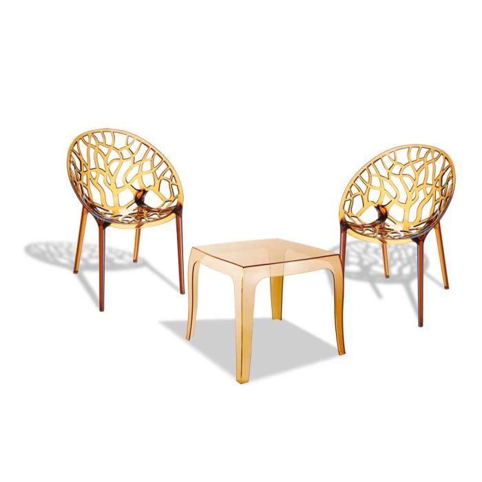 Meubles de jardin de bistrot plastique table chaise for Achat meuble jardin