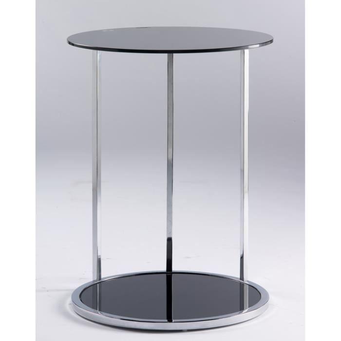 Table d 39 appoint m tal et verre achat vente table d for Table d appoint verre