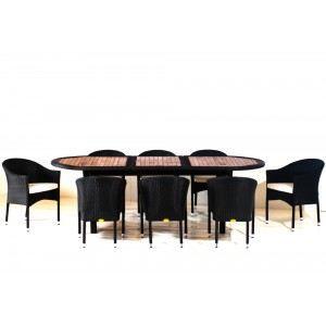salon de jardin teck r sine pour 8 personnes achat. Black Bedroom Furniture Sets. Home Design Ideas