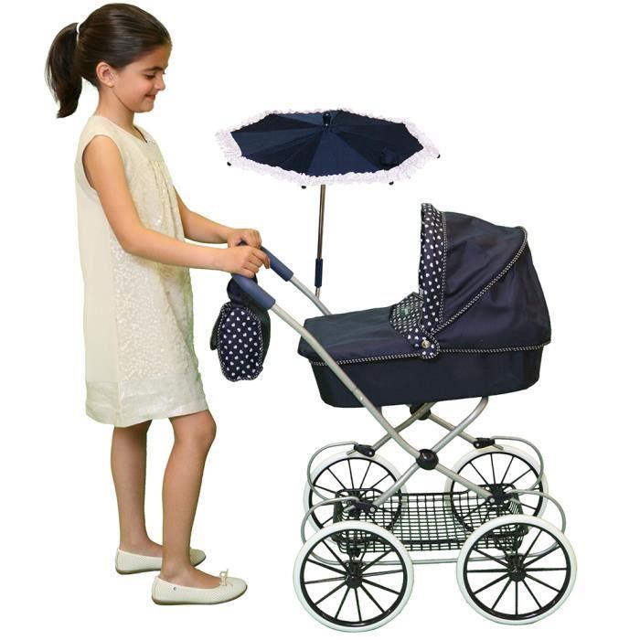 Poussette landau pour poup e avec ombrelle parapluie sac langer achat vente landau - Landau pour grande fille ...