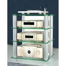 Bilus meuble tv hifi video rangement verre et m tal achat vente meuble tv - Meuble pour chaine hifi design ...