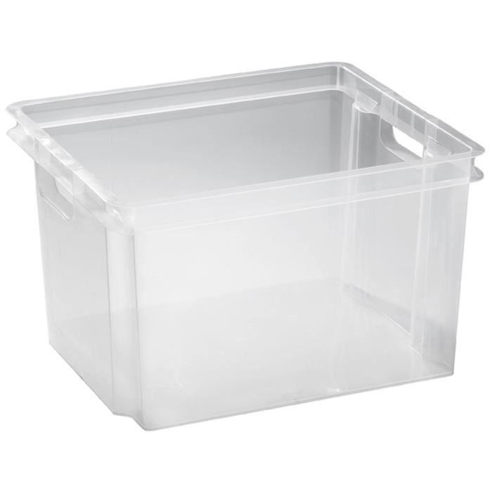 allibert crownest box de rangement 30 l transparen achat vente boite de rangement 100