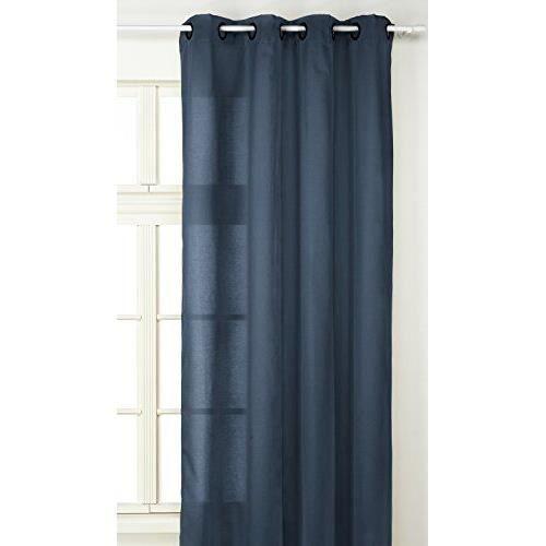 linder 0205 45 375fr rideau double natte marine oeillets 135 x 240 cm achat vente rideau. Black Bedroom Furniture Sets. Home Design Ideas
