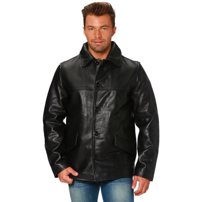 manteau cuir homme achat vente manteau caban manteau. Black Bedroom Furniture Sets. Home Design Ideas