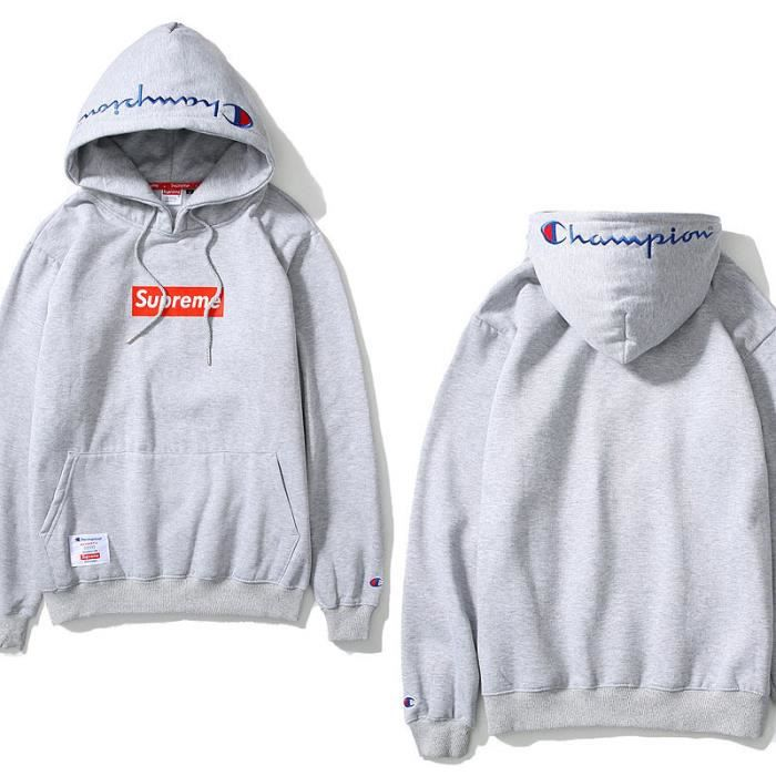 Champion Amp Supreme Sweat Shirt Pull Over Homme Femme Hoodies