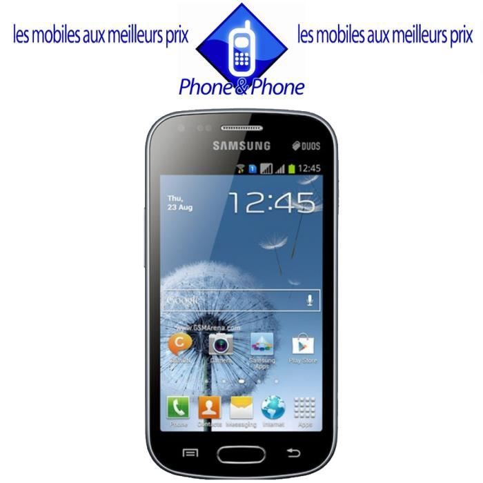 telephonie telephone mobile samsung galaxy trend noir double sim neuf debloque f  sam