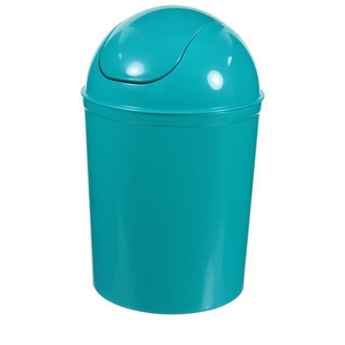 Poubelle de sdb turquoise bleu achat vente poubelle for Poubelle de salle de bain bleu