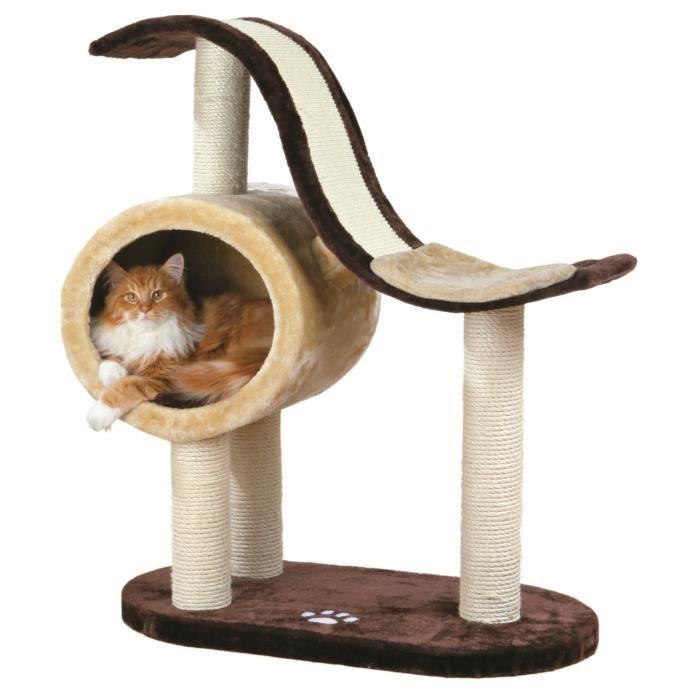trixie nerja arbre chat hauteur 99 cm brun beige peluche et sisal naturel achat vente. Black Bedroom Furniture Sets. Home Design Ideas