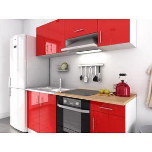 Cuisine complete laque rouge achat vente cuisine for Cuisine complete rouge