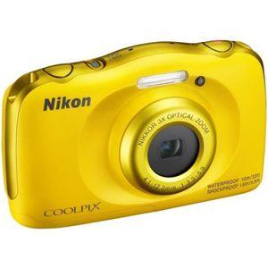 NIKON COOLPIX W100 - Appareil photo numérique compact - Résolution de 13,2Mp - Vidéo Full HD - Etanche jusqu'? 10m - Jaune
